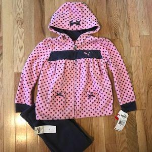 NWT Puma Fleece Outfit Girls Size 6